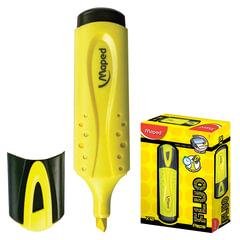 """Текстмаркер MAPED (Франция) """"Fluo Pep's Classic"""", скошенный наконечник 1-5 мм, желтый"""