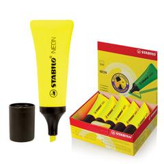 """Текстмаркер STABILO """"Neon"""", скошенный наконечник 2-5 мм, желтый"""