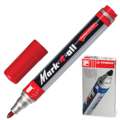 "Маркер перманентный STABILO ""Mark"", пулевидный наконечник 1,5-2,5 мм, красный"