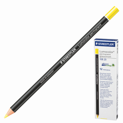 Маркер-карандаш сухой перманентный для любой поверхности, желтый, 4,5 мм, STAEDTLER (Штедлер, Германия)