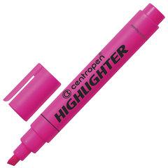 Текстмаркер CENTROPEN, скошенный наконечник 1-4,6 мм, неоновый розовый