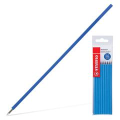 """Стержни шариковые STABILO """"Performer"""", набор 10 шт., 0,38 мм, к ручке 142113, европодвес, синие"""