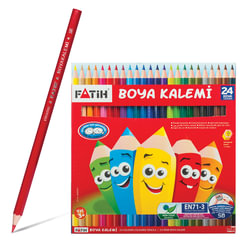 Карандаши цветные PENSAN (FATIH), 24 цвета, заточенные, картонная упаковка