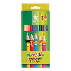 """Карандаши цветные KOH-I-NOOR """"Centi"""", 24 цвета, грифель 2,65 мм, заточенные, европодвес"""