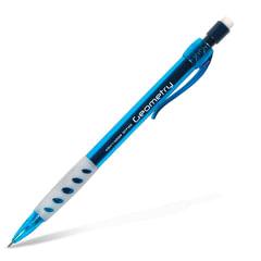 """Карандаш механический KOH-I-NOOR, 1 шт., """"Geometry"""", корпус тонированный голубой, резиновый держатель, 0,5 мм, с ластиком"""