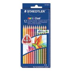 """Карандаши цветные STAEDTLER (ШТЕДЛЕР, Германия) """"Noris club"""",12 цв., трехгранные, заточенные, упаковка с европодвесом"""