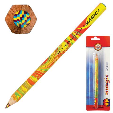 """Карандаш с многоцветным грифелем KOH-I-NOOR, 1 шт., Magic """"Original"""", грифель 5,6 мм, заточенный, блистер"""