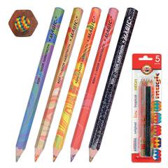 "Карандаши с многоцветным грифелем KOH-I-NOOR, набор 5 шт., ""Magic"", блистер с европодвесом"