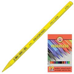 """Карандаши цветные художественные KOH-I-NOOR """"Progresso"""", 12 цветов, грифель 7,1 мм, в лаке, без дерева, заточенные,картон.упаковка"""