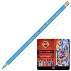 """Карандаши цветные художественные KOH-I-NOOR """"Polycolor"""", 24 цвета, грифель 3,8 мм, заточенные, металлическая коробка"""