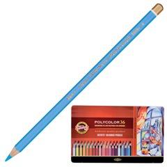 """Карандаши цветные художественные KOH-I-NOOR """"Polycolor"""", 36 цветов, грифель 3,8 мм, заточенные, металлическая коробка"""