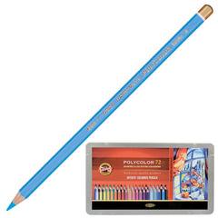 """Карандаши цветные художественные KOH-I-NOOR """"Polycolor"""", 72 цвета, грифель 3,8 мм, заточенные, металлическая коробка"""