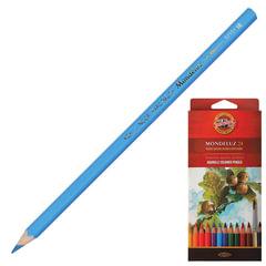 """Карандаши цветные акварельные художественные KOH-I-NOOR """"Mondeluz"""", 24 цвета, грифель 3,8 мм, заточенные, картонная упаковка"""