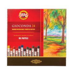 """Пастель масляная художественная KOH-I-NOOR """"Gioconda"""", 24 цвета, круглое сечение"""