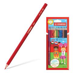 """Карандаши цветные STABILO """"Color"""", 12 цветов, грифель 2,5 мм, заточенные, картонный футляр"""