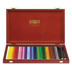 """Карандаши цветные KOH-I-NOOR """"Polycolor"""", 36 цветов, грифель 3,8 мм, заточенные, деревянный ящик"""