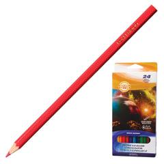 """Карандаши цветные KOH-I-NOOR """"Космическая одиссея"""", 24 цвета, грифель 3 мм, заточенные, картонная упаковка с европодвесом"""