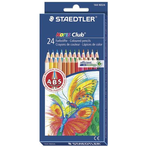 """Карандаши цветные STAEDTLER (Германия) """"Noris club"""", 24 цвета, заточенные, европодвес"""