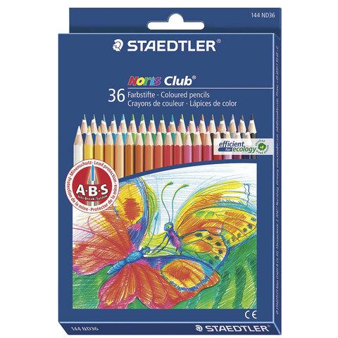 """Карандаши цветные STAEDTLER (ШТЕДЛЕР, Германия) """"Noris club"""", 36 цветов"""