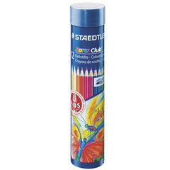 """Карандаши цветные STAEDTLER (Германия) """"Noris club"""", 12 цветов, заточенные, металлический тубус"""