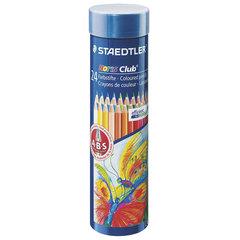 """Карандаши цветные STAEDTLER (Германия) """"Noris club"""", 24 цвета, заточенные, металлический тубус"""