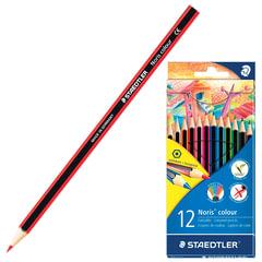 """Карандаши цветные STAEDTLER (Штедлер, Германия) """"Noris color ecology"""", 12 цветов"""