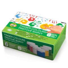 """Краски пальчиковые KOH-I-NOOR """"Лягушонок"""", 6 цветов по 50 мл, на водной основе, картонная коробка"""