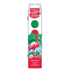 """Краски акварельные ERICH KRAUSE """"Artberry"""", 6 цветов, медовые, пластиковая коробка с европодвесом, без кисти"""