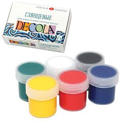 """Краски акриловые """"Декола"""", 6 цветов по 20 мл, картонная коробка"""