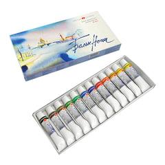 """Краски акварельные художественные 12 цветов, """"Белые ночи"""", туба 10 мл, картонная коробка"""