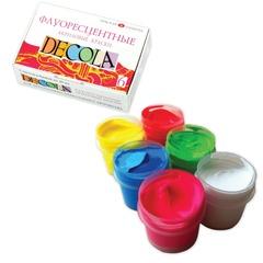 """Краски акриловые """"Декола"""", 6 цветов по 20 мл, флуоресцентные"""