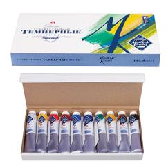 """Краски темперные художественные """"Мастер-класс"""", 10 цв., 46 мл, в картонной коробке"""