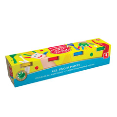 "Краски пальчиковые ERICH KRAUSE ""Artberry"", 4 цвета по 100 мл, на водной основе, картонный рукав"
