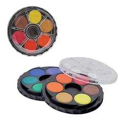Краски акварельные художественные KOH-I-NOOR, 12 цветов, черная круглая пластиковая коробка, без кисти