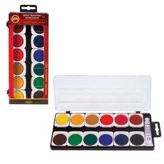 Краски акварельные художественные KOH-I-NOOR, 12 цветов, лессировочные (прозрачные)