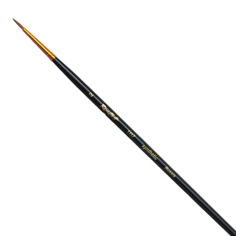 Кисть художественная ROUBLOFF (Рублев), синтетика, жесткая, круглая, № 2, короткая ручка