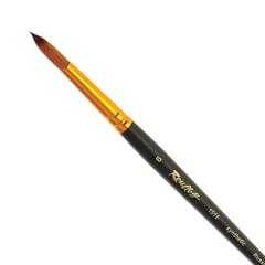 Кисть художественная ROUBLOFF (Рублев), синтетика, под колонок, круглая, № 6, короткая ручка