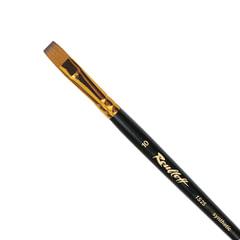 Кисть художественная ROUBLOFF (Рублев), синтетика, под колонок, плоская, № 10, короткая ручка