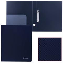 """Папка на 2 кольцах BRAUBERG (БРАУБЕРГ) """"Диагональ"""", 40 мм, черная, до 250 листов, 0,9 мм"""