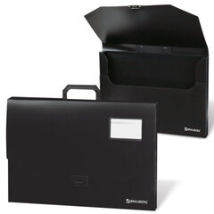 Портфель пластиковый BRAUBERG (БРАУБЕРГ), А3, 450х315х60 мм, без отделений, черный