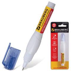 Ручка-корректор BRAUBERG, 10 мл, металлический наконечник, в блистере