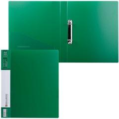"""Папка на 2 кольцах BRAUBERG """"Contract"""" (БРАУБЕРГ """"Контракт""""), 35 мм, зеленая, до 180 листов, 0,9 мм"""