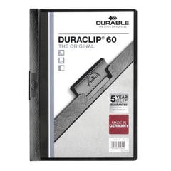 """Папка с клипом DURABLE (Германия), до 60 листов, """"Duraclip Original"""", черная"""