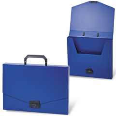 """Портфель пластиковый BRAUBERG """"Energy"""", А4, 256х330 мм, без отделений, синий"""