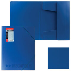 "Папка на резинках ERICH KRAUSE ""Megapolis"", А4, синяя, до 300 листов, 0,6 мм"