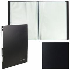 Папка 10 вкладышей BRAUBERG (БРАУБЕРГ) бюджет, черная, 0,5 мм