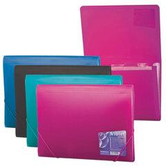 """Папка на резинках ERICH KRAUSE """"Vivid Colors"""", А4, 6 отделений, пластиковые индексные ярлычки, 4 цвета ассорти, 0,65 мм"""