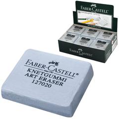 Резинка стирательная профессиональная FABER-CASTELL для чернографитного карандаша, угля, пастели, серая