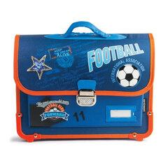 """Ранец жесткокаркасный BRAUBERG для учеников начальной школы, """"Футбол"""", 14 литров, 38х30х12 см"""
