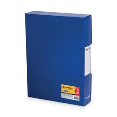 "Папка 100 вкладышей BRAUBERG ""Business"" (БРАУБЕРГ ""Бизнес""), синяя, 0,8 мм, в пластиковом коробе"